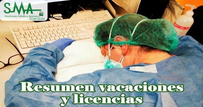 Resumen vacaciones y licencias